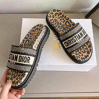 Dior CD new shoes high heel sandals fashion ladies casual platform slippers