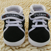 0-18M Baby Infant Kids Boy Girls Soft Sole Canvas Sneaker Toddler Newborn Shoes New Lisa's Store NW