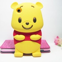 Winnie the Pooh 3D Cartoon Soft Shell Case for iPhone 3G/3GS:Amazon:Cell Phones & Accessories