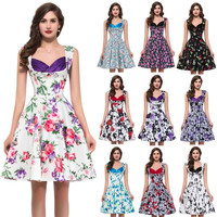 2015 New Vintage 1950's Rockabilly Spring Garden Party Picnic Dress = 1945844036