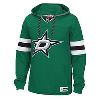 Nhl Dallas Stars Men's Face Off Jersey Pullover Hoodie Xx Large Green