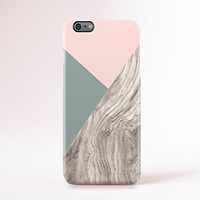 iPhone 6 Case Wood Print iPhone 6 Case Geometric iPhone 6 Case Pantone Color iphone 5 Case iPhone 5s Case Galaxy S5 Case Pastel Pink