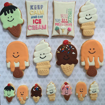 Ice Cream Cone and Truck Sugar Cookies