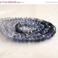 51% Off Clearance Sale Iolite Gemstone Rondelle Water Sapphire Faceted 4.5mm FULL Strand 100 beads