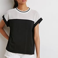 Mesh-Paneled Boxy Top