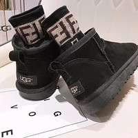 UGG Fashionable low-top ugg boots with fleece warm cotton shoes non-slip cotton boots ladies