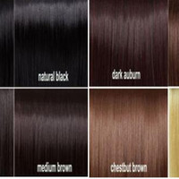 """DOUBLE SET - Thick 24"""" Inch Dark Brown Clip In Hair Extensions - 200 grams"""