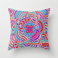 Maze Throw Pillow by PeriwinklePeacoat
