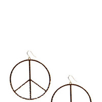 Nina Peace Sign Hoop Earring