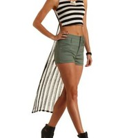 Striped Extreme High-Low Tank Top by Charlotte Russe