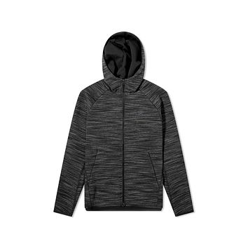 Nike Men's NSW Sportswear Tech Fleece Full Zip Hoodie Dark Grey Black Heather