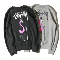 Stussy Women Man Fashion Casual Print Top Sweater Pullover