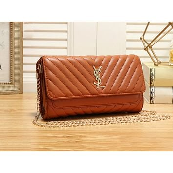 YSL hot selling solid color line shopping bag fashion casual lady shoulder bag #2