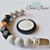 Marble Cookie Pacifier Clip Teether