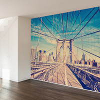 Brooklyn Bridge Wall Mural Decal