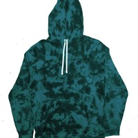 "Nike X Jeffersons Custom Tonal Tie Dye Washed Hoodie ""TEAL"""