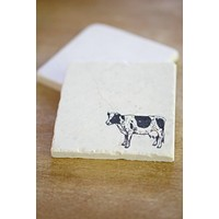 Cow Marble Coasters