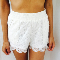 Floral Front Diamond Beach shorts