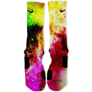 Toxic Galaxy Customized Nike Elite Socks
