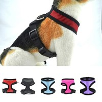 Brand Adjustable Soft Breathable Dog Harness Nylon Mesh Vest Harness for Dogs Puppy Cat Collar Pets Chest Strap Leash