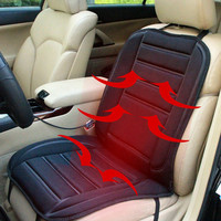 VODOOL 12V Warm heated Car Seat Cover Cushion DC Electric Heating Car Seats Cover Black keep warm car-cover seats cushion