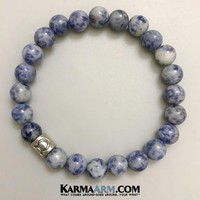 Zodiac | Astrology Collection: Blue Spot Jasper | Yoga Chakra Bracelet