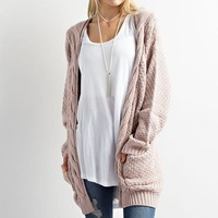Oversized Cable Sweater in Twig