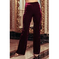 Turn Back Time Pants (Cranberry)