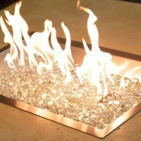 Outdoor GreatRoom NP Crystal Fire Stainless Steel Firepit Burner - 24L x 24W in.:Amazon:Pet Supplies