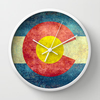 Colorado State Flag Wall Clock by Bruce Stanfield | Society6