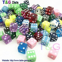 50pcs set T&G High Quality 12mm Navy Blue Square corners Dice Set with White Dots dungeon and dragon juegos de mesa Novelty Dice
