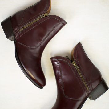 Lucky Penny Oxblood Leather Bootie