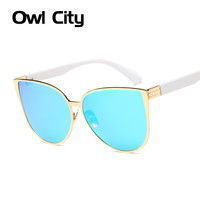 Newest Oversized Sunglasses Women Brand Designer Cat eye Sun glasses Classic Retro Style Female Alloy Big Frame Mirror Sunglass
