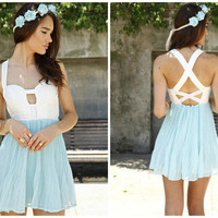 Strap Chiffon Dress