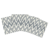 """Heidi Jennings """"Tribal Chevron Gray"""" Outdoor Placemat (Set of 4) - Outlet Item"""