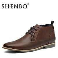 Fashion PU Leather Men Boots,  Fshion Men Ankle Boots, Popular Men Chukka Boots