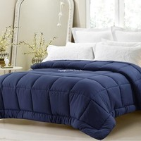 SUPER OVERSIZED-HIGH QUALITY-DOWN ALTERNATIVE COMFORTER- FITS PILLOW TOP BEDS - NAVY