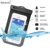 "Waterproof Case For iphone 6 6 Plus Universal 5.5"" Underwater Cell Phone Pouch Dry Bag For Samsung HTC Huawei Waterproof bag"