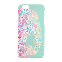 Pastel Floral Elephant with Bling Tusks Soft Touch Cover for iPhone 6