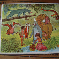 """Lovely collectible old box """"The book of the jungle"""""""