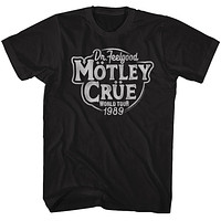 Motley Crue Dr. Feelgood World Tour Adult Black Tee Shirt