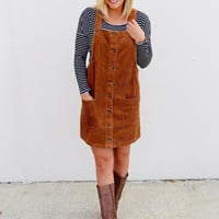 Caught Up In Corduroy Dress