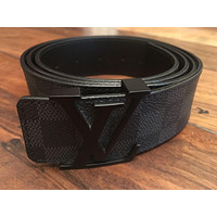 LOUIS VUITTON LV Damier Graphite Mens Belt Damier Size 44/110 M9808 - NIB