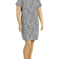 Old Navy Womens Plus Tie Back Printed Shift Dresses