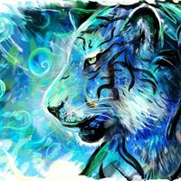 """Project Blue Tiger"" - Art Print by Louis Dyer"
