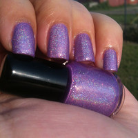 Mini Size (5 mL) Purple Holographic Indie Nail Polish with Spectraflair - Day Drunk