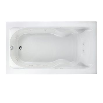 American Standard Cadet 6 ft. x 42 in. Whirlpool Tub in White-2774.018W.020 - The Home Depot