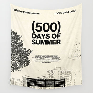 (500) Days of Summer Wall Tapestry by Martin Lucas