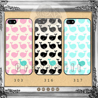 The whale, iPhone 5s case iPhone 5C Case iPhone 5 case iPhone 4 Case iPhone Samsung Galaxy S4 case Galaxy S3 ifg-01