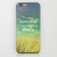 Happiness is a Day at the Beach iPhone & iPod Case by Olivia Joy StClaire